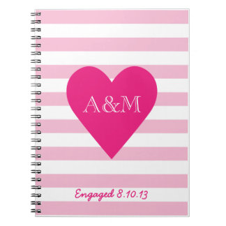 Hearts and Stripes Engaged Note Book