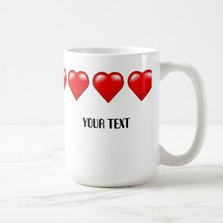 Hearts Mug Custom Template