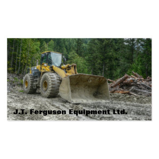 Heavy Equipment Machinery Land Clearing Tractor Pack Of Standard Business Cards