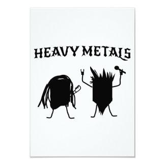 Heavy Metals 9 Cm X 13 Cm Invitation Card