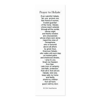 Hecate (Hekate) Prayer Card Pack Of Skinny Business Cards