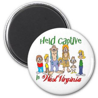 Held Captive in West Virginia 6 Cm Round Magnet