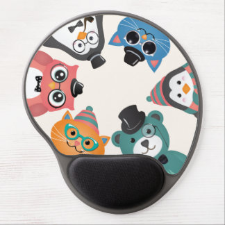 Hello! Animal Friends Circle Gel Mouse Pad