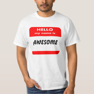 HELLO MY NAME IS T SHIRT,ADD UR FUNNY TEXT T-SHIRTS