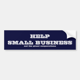 Help small business bumper sticker