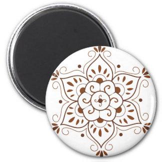 Henna Tattoo Mandala 6 Cm Round Magnet