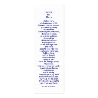 Hera Prayer Card Pack Of Skinny Business Cards