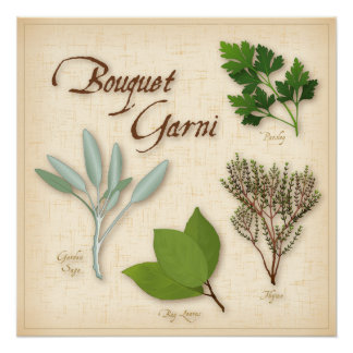 Herb Bouquet, Recipe, Bay, Thyme, Sage, Parsley