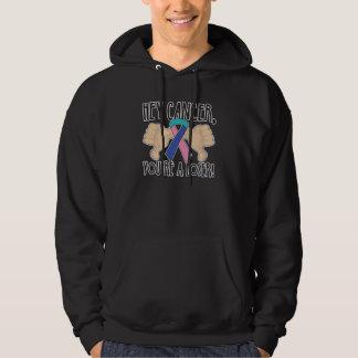 Hey Thyroid Cancer You're a Loser Hooded Sweatshirts