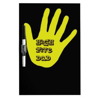 High Five Dad Hand Dry Erase Boards