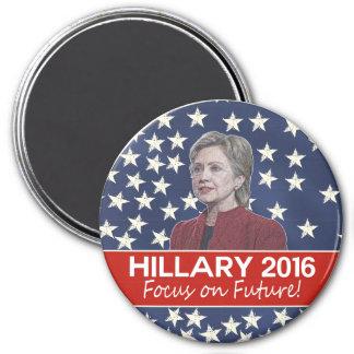 Hillary Focus on Future 7.5 Cm Round Magnet