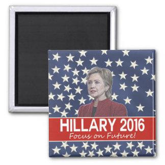 Hillary Focus on Future Square Magnet