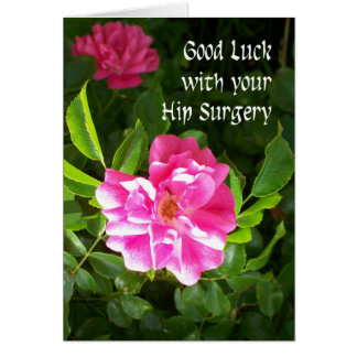 Hip Surgery Good Luck Card