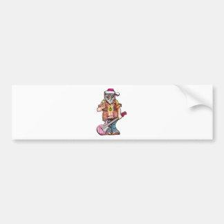 "Hippy Santa says ""Cool Yule"" Bumper Sticker"