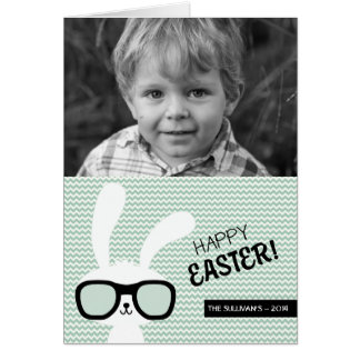 Hipster Bunny   Happy Easter Photo Card