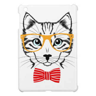 Hipster Cat iPad Mini Cover