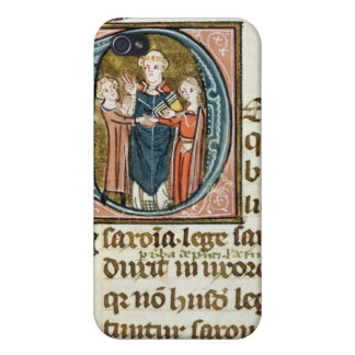 Historiated initial 'D' depicting a priest Covers For iPhone 4