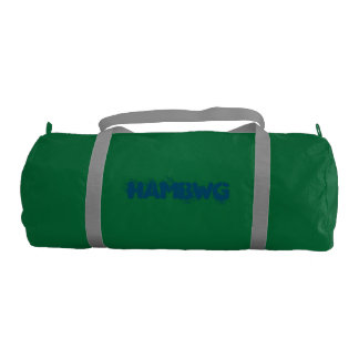 HMbWG - Duffle Gym Bag, Emerald with Silver straps Gym Duffel Bag