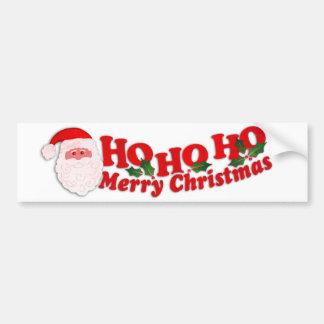 """Ho Ho Ho Merry Christmas"" car bumper sticker"