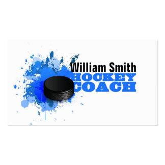 Hockey Coach Pack Of Standard Business Cards