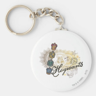 Hogwarts Logo and Professors 2 Basic Round Button Key Ring