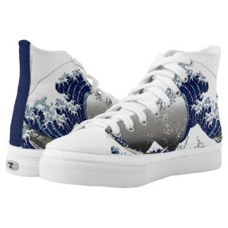 Hokusai Great Waves at Kanagawa Printed Shoes