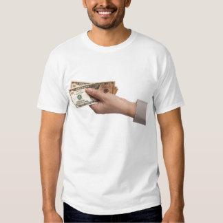 Holding money t-shirts