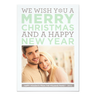 Holiday Photo Card | Modern Christmas Wishes 13 Cm X 18 Cm Invitation Card