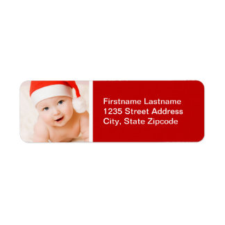 Holiday Photo Return Address Label