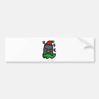 Holiday Zzz Penguin by Penguin World Order Designs Bumper Sticker