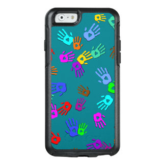 holiES - hands colored pattern 1 + your backgr. OtterBox iPhone 6/6s Case