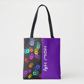 holiES - hands colored pattern 1 + your backgr. Tote Bag
