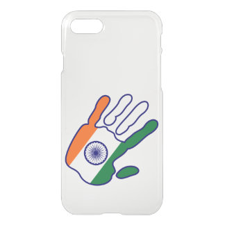 holiES - India Flag Hand + your ideas iPhone 7 Case