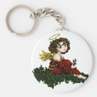 Holly Angel Basic Round Button Key Ring
