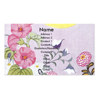 Hollyhock, Dahlia and Balloon Flowers Pack Of Standard Business Cards