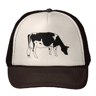 Holstein Dairy Cow, Freehand Line Drawing Cap