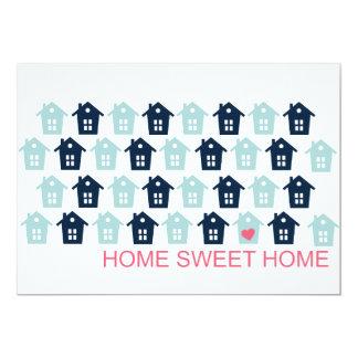home sweet home 13 cm x 18 cm invitation card