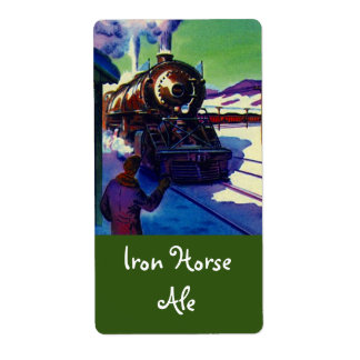 Homebrewing Supplies Beer Brewing Iron Horse Label Shipping Label