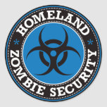 Homeland Zombie Security - Blue B Round Sticker