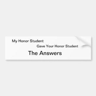 Honor Students Bumper Sticker