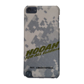 """Hooah For All Soldiers"" Personalized iPod Touch 5G Case"