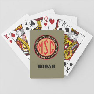 HOOAH Retro Patch Playing Cards