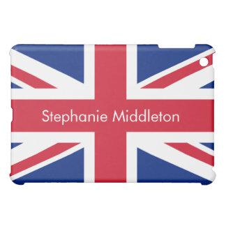 Horizontal Personalized UK Flag iPad Mini Case
