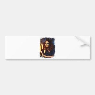 Horror Girl Candle Freak Creepy Horror Bumper Sticker