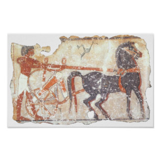 Horse and Chariot Poster
