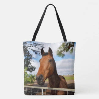Horse_Delights,_Full_Print_Lge_Tote_Shopping_Bag Tote Bag