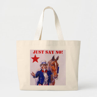 Horse Meat Slaughter Just Say No Campaign UncleSam Jumbo Tote Bag
