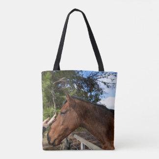 Horse_Pat,_Full_Print_Medium_Tote_Shopping_Bag Tote Bag