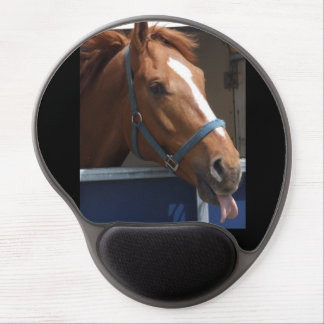 Horsing around - cheeky chestnut horse gel mouse pad