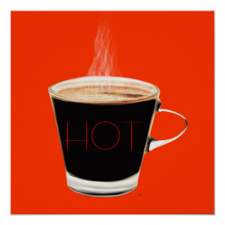 Hot Coffee Poster Art (Red)